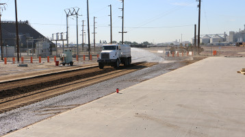 BNSF Railway Terminal Fresno - Road regeneration and dust abatement
