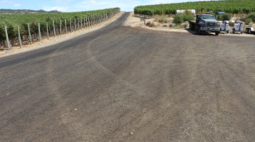Dust abatement solution for Napa Valley Vineyard